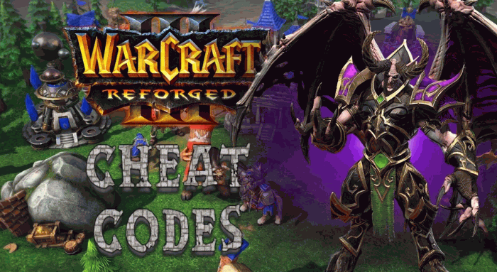 Warcraft 3: Reforged Cheats Codes