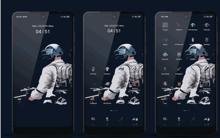 Download PUBG Mobile Theme For Xiaomi, Redmi Mobile 1