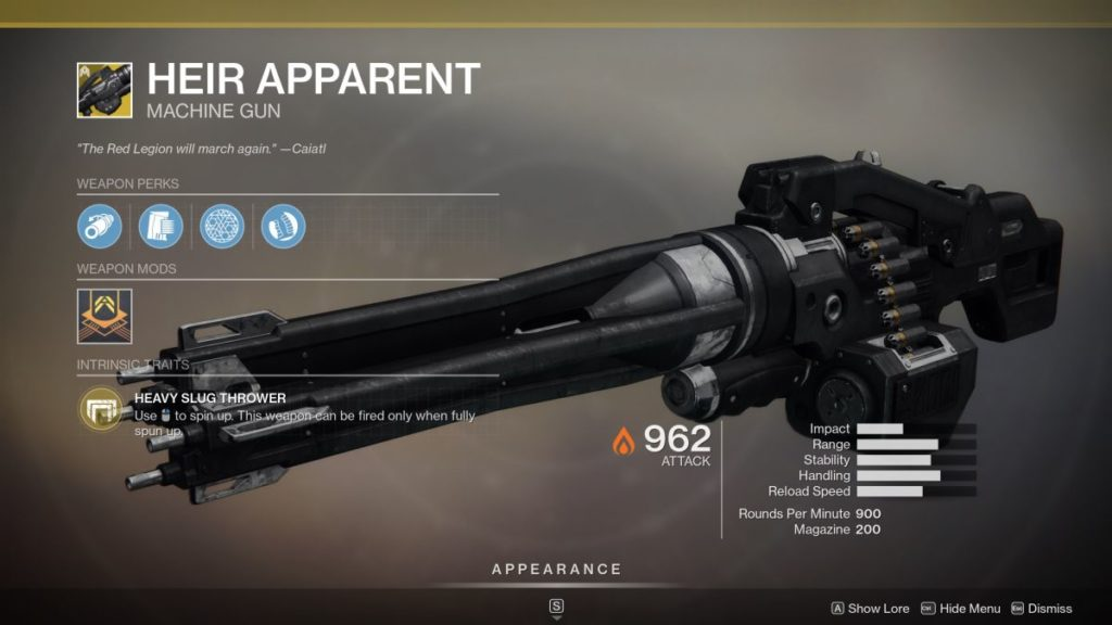 Destiny 2: How To Get It New Weapon Exotic Heir Appearance 2