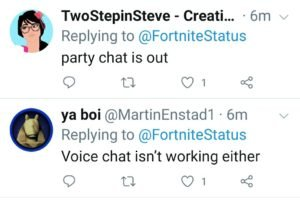 Fortnite Party Chat, Game Chat not working for some players 1