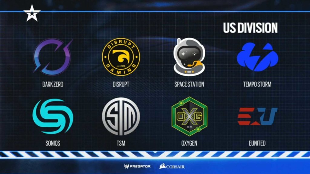 Rainbow Six: US Division teams, groups, and schedule 1