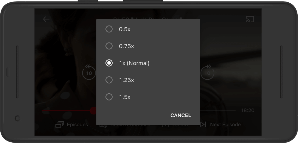 "Netflix announced add the ""custom playback speed"" feature"