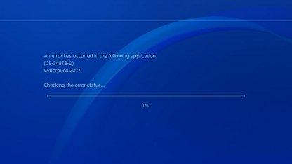 Cyberpunk 2077: Error Code CE-34878-0 PS4 Crash Fix