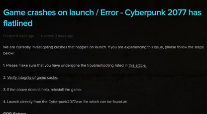 How To Fix Cyberpunk 2077 Flatlined Error