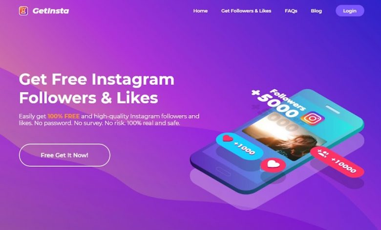 GetInsta, the best Instagram followers app that helps Instagram users to gain followers and likes free of charge. All GetInsta users are real, active humans, not ghost followers