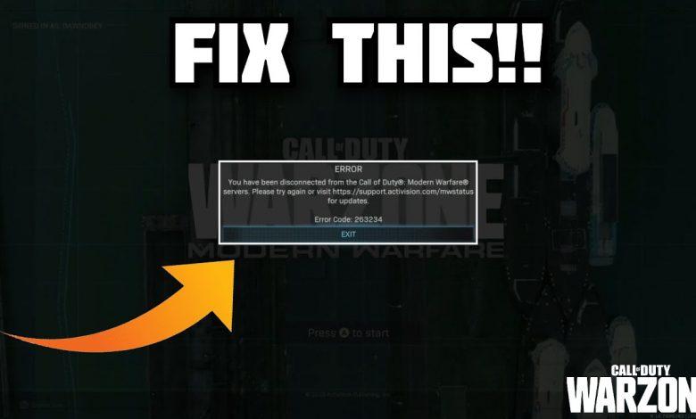Fix COD WARZONE ERROR 263234