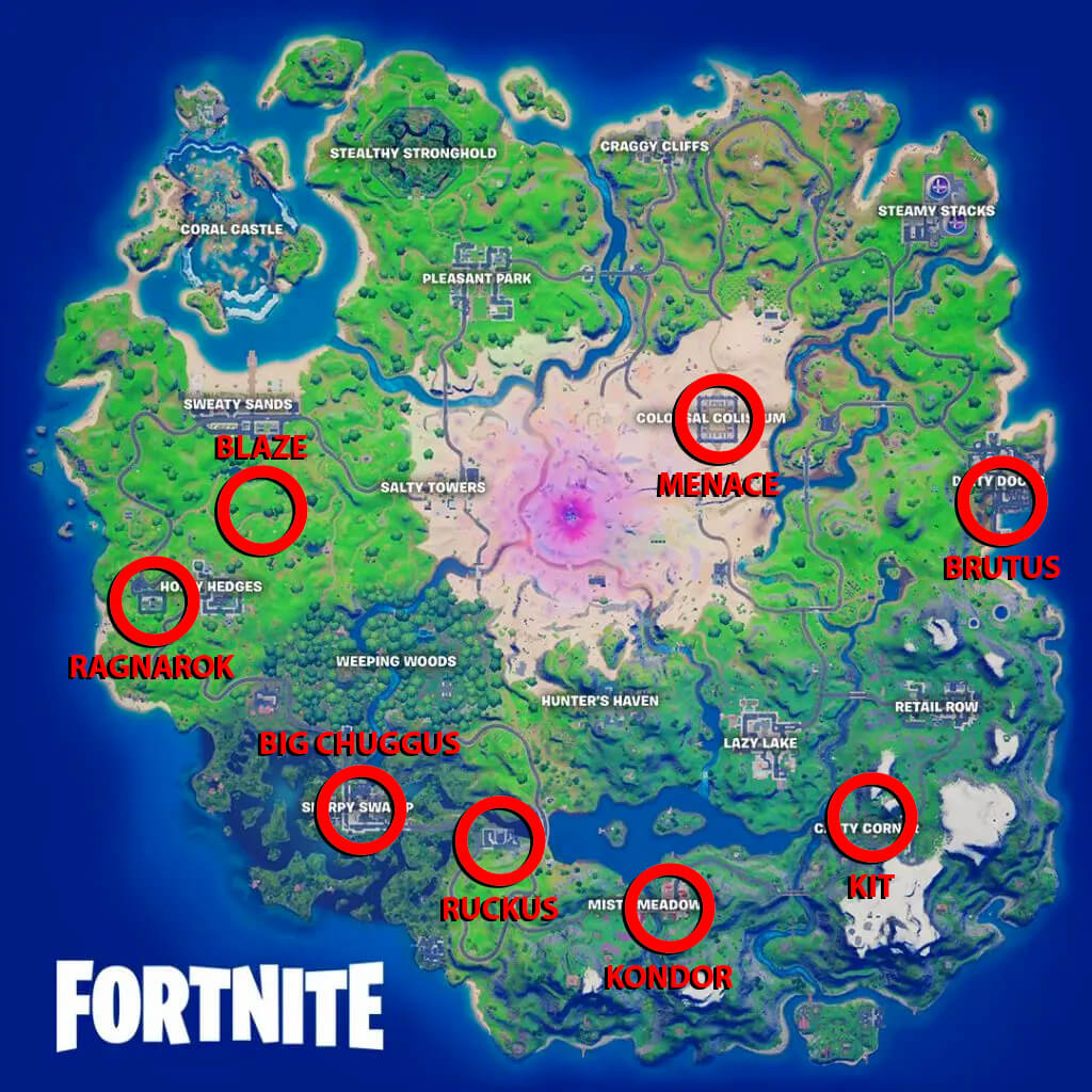 Fortnite NPC locations